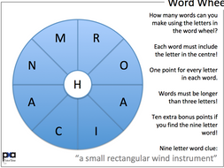 99 9 letter word wheels tutor time activity