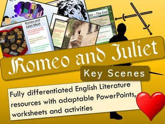 Romeo and Juliet - Key Scenes Bundle