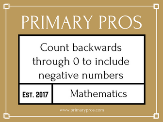 Count backwards through 0 to include negative numbers