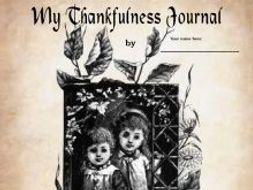 """My Thankfulness Journal"" Creative Writing"
