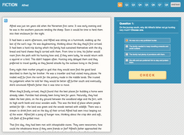 Alfred - Interactive Exercise - Year 6 Reading Comprehension (Fiction)