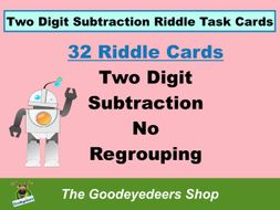 Maths Task Cards - Two Digit Subtraction