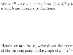completing the square worksheet pdf