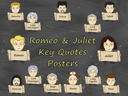 Romeo and Juliet Key Quotes - English Classroom Posters (GCSE)