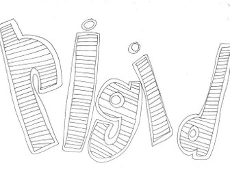 Rigid: Materials and Properties Colouring Page