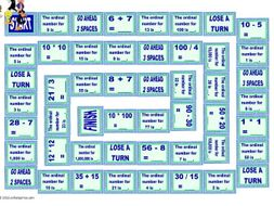 Cardinal and Ordinal Numbers Animated Board Game