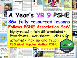 Year 9 PSHE + RSE Complete