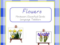 Montessori Classified Cards - Flowers