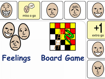 Feelings Board Game and Dice