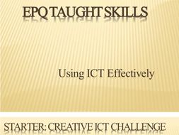 Study skills EPQ Skills lessons