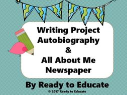 Writing an Autobiography- Mini-Lesson, Brainstorm, Warm-Up, Template- Writers Workshop-No Prep
