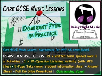 GCSE Music DOMINANT SEVENTHS