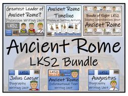 LKS2 Ancient Rome Reading Comprehension & Writing Bundle