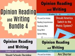 Opinion Reading and Writing Bundle 4