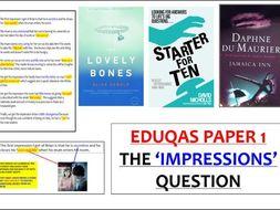 EDUQAS 'IMPRESSIONS' 2019 - 3 different lessons & extracts (GCSE English Language)