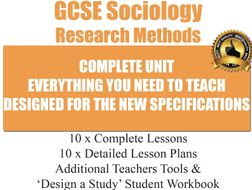 Research Methods (10 Lessons) [ GCSE Sociology ]