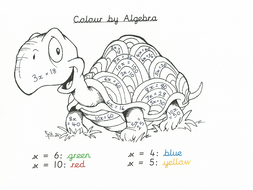 Colour by Algebra Year 6 Activity