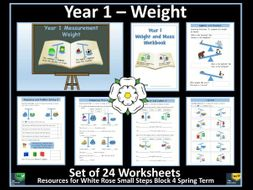 Weight and Mass - Year 1 - 24 Worksheets - White Rose Maths