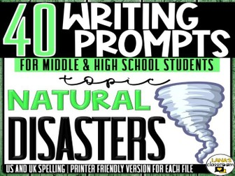 Daily Writing Prompts | Natural Disasters | Middle and High School