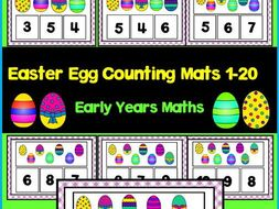 Easter Egg Counting Mats Numbers 1 20