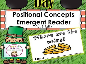 St. Patrick's Day Emergent Reader: Positional Concepts!