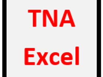Training Needs Analysis - Microsoft Excel