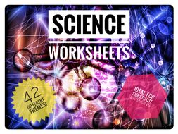 40 Science cover lesson / substitute lesson worksheets.