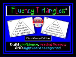 Reading Fluency - Fluency Triangles® for First Grade Sight Words