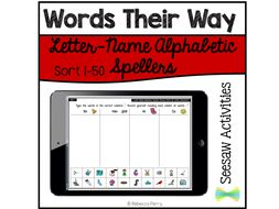 Seesaw Activities - Words Their Way - Letter-Name Alphabetic  - Sorts 1-50