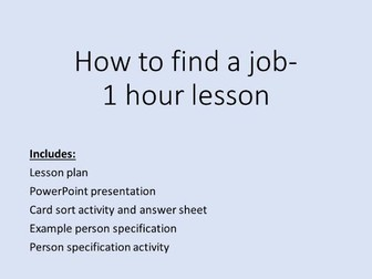 How to find a job- careers lesson