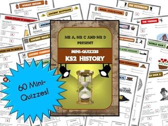 BUNDLE - KS2 History Mini-Quizzes / Multiple Choice Assessment