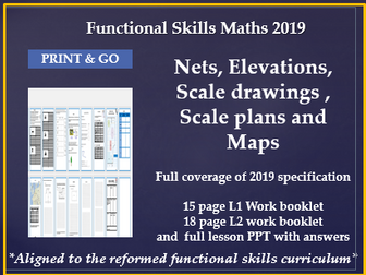 Reformed functional skills maths scale,plans,maps,nets and elevations