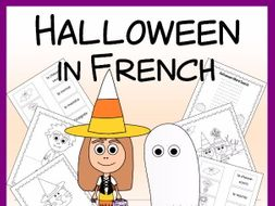 Halloween in French - Vocab. sheets, wks, matching and bingo games
