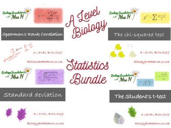 A Level Biology Statistics Bundle