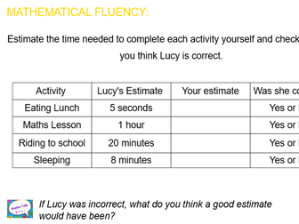 Summer Block: Y4 Block 3 Measurement:TIME Smart Notebook and PDF files following ORDER of White Rose