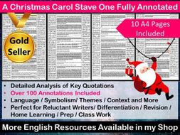 A Christmas Carol Stave One Fully Annotated