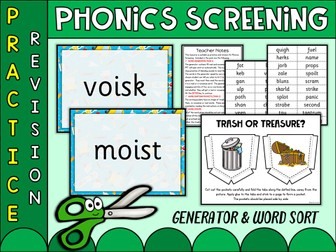 Letters Sounds Phonics Trash Or Treasure Buried Phase 2