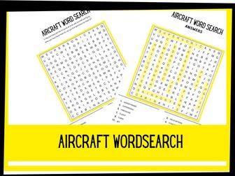Aircraft Wordsearch | KS1 KS2 Science
