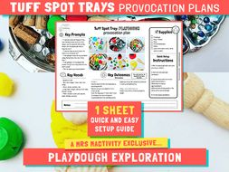 Tuff Spot Play Dough Provocation