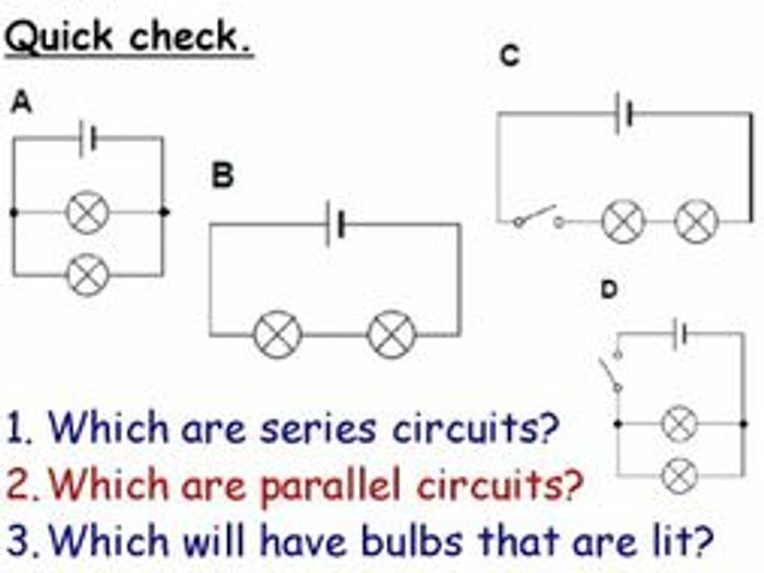 electricity series and parallel circuits year 7 lesson powerpoint rh tes com circuit diagram ks3 Circuit Diagram Symbols