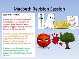 Macbeth Lessons 15 - 21, Revision Guide, Revision Lesson