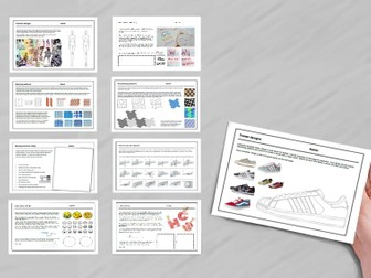 9 Textiles cover work / cover lessons - Tried and tested worksheets