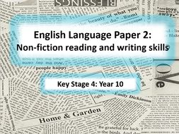 Complete SoW - Non-fiction and Transactional Writing