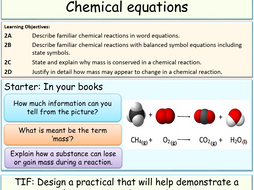 balanced word and chemical equations by jubblord teaching