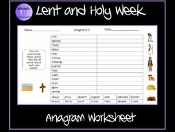 Lent and Pancake Day Anagram Worksheet by Krazikas - Teaching ...