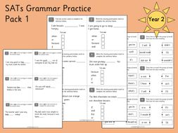 Sats Grammar Practice Year 2 By Gsprimaryeducation Teaching