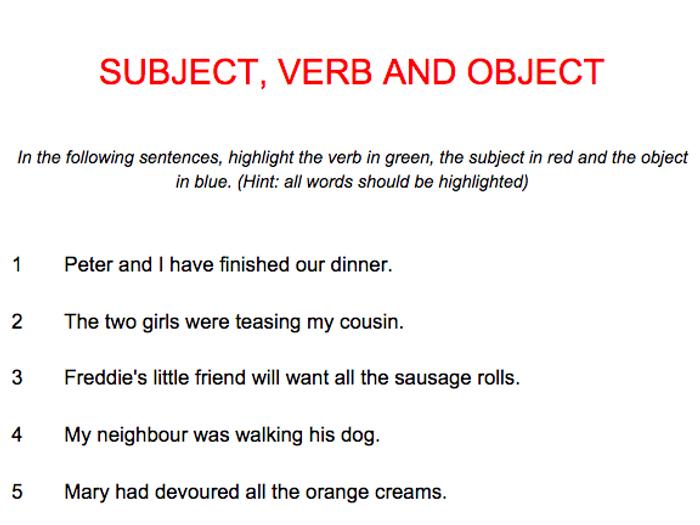 Grade 5 English Worksheet: Subject-Verb Agreement | Smartkids