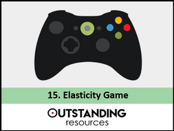 Economics: Lesson 15 - Elasticity Game (Price Elasticity of Demand, Supply, IED, XED) + Activity