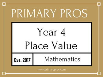 Year 4 Maths - Place Value