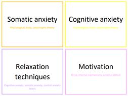 Arousal and Motivation Theories A Level